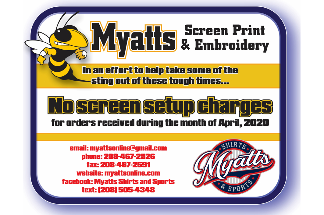 Myatt's Screen Printing And Embroidery April Specials